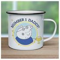Personalised Peppa Pig Number 1 Daddy Enamel Mug