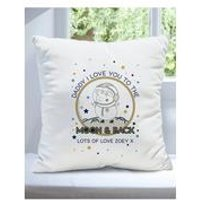 Personalised Peppa Pig Daddy Moon and Back Cushion