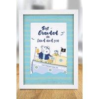 Personalised Peppa Pig Best Grandad A4 Framed Print