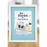 Personalised Peppa Pig Best Grandad A4 Framed Print