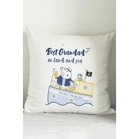 Personalised Peppa Pig Best Grandad Cushion