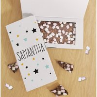 Personalised Star Chocolate Card.