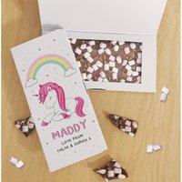 Personalised Unicorn Chocolate Card at Studio Catalogue
