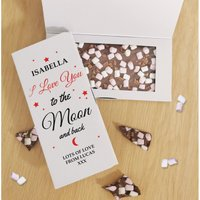 Personalised To The Moon and Back Chocolate Card at Studio Catalogue