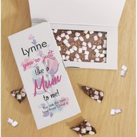 Personalised Just Like a Mum To Me Chocolate Card at Studio Catalogue