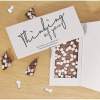 Personalised Thinking of You Chocolate Card.