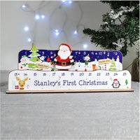 Personalised Make Your Advent Count Down Christmas Santa.
