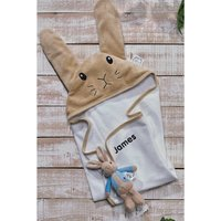 Personalised Peter Rabbit Soft Toy and Cuddle Robe Gift Set