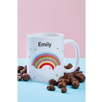 Personalised Rainbow Mug and Chocolates.