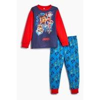 Younger Boys Personalised Paw Patrol Team Long Sleeve Pyjamas.