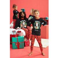 Boys Personalised Mickey Mouse Family Pyjamas.
