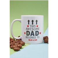 Personalised Awesome Dad Mug and Chocolates.