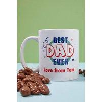 Personalised Best Dad Mug and Chocolates.