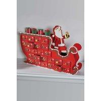 Personalised Wooden Santa Sleigh Advent Calendar