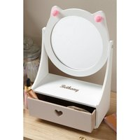 Personalised Kitty Mirror with Stand