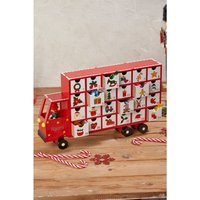 Personalised Wooden Truck Advent Calendar