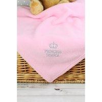 Personalised Pink Princess Baby Blanket.