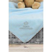 Personalised Blue Prince Baby Blanket.
