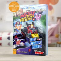 Personalised Mickey and the Roadster Racers - Softback Book.