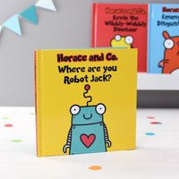 Personalised Flossy and Jim Where are you Robot Hardback Book.