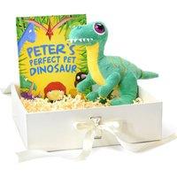 Personalised Perfect Pet Dinosaur Plush Toy Giftset.