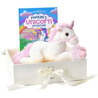 Personalised Unicorn Story Plush Toy Giftset.