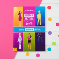 Personalised You Can Be Anything Barbie - Softback