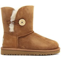 Infant Bailey Button Sheepskin Boots - Chestnut