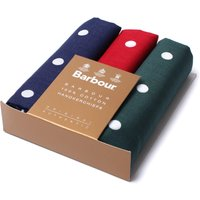 3 Pack Spotted Cotton Handkerchiefs - Red, Blue & Green
