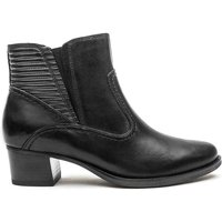 Black Caprice Heeled Ankle Boot  Black