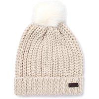 Saltburn Herringbone Knit Beanie - Pearl