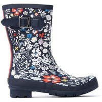 Women's Molly Rubber Mid-Height Wellington Boots - Navy Ria Ditsy