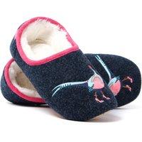 Women's Slippets Pheasant Mule Slippers - French Navy