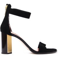 Women's Perlie Heeled Sandals - Black Suede