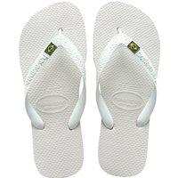 Brazil Logo Flip Flops - White