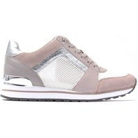 Women's Billie Leather Net Mesh Trainers - Cement