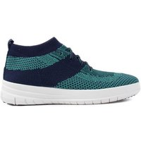 Women's Ãœberknit Slip-On High Top Trainers - Midnight Navy & Parakeet Green