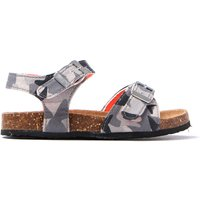 Infant Tippy Toes Camo Sandals - Camouflage Grey