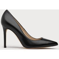 Fern Leather Point Toe Court, Black