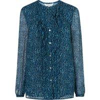 Bryony Evergreen Silk Woven Top