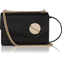 Kay Black Snake Effect Shoulder Bag