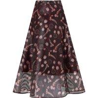 Trudy Black Print Skirt