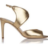 Cecilia Gold Metallic Leather Formal Sandals
