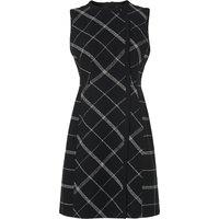 Zuri Black Check Wool Mix Dress