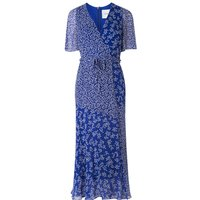 Elif Blue Silk Dress