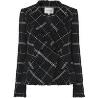 Zuri Black Check Wool Mix Jacket