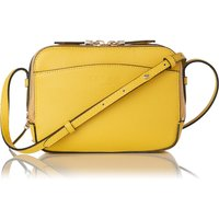 Mariel Yellow Leather Shoulder Bag