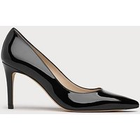 Floret Black Patent Leather Point Toe Court, Black