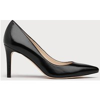 Floret Black Leather Courts, Black