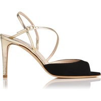 Camilla Black Leather Formal Sandals